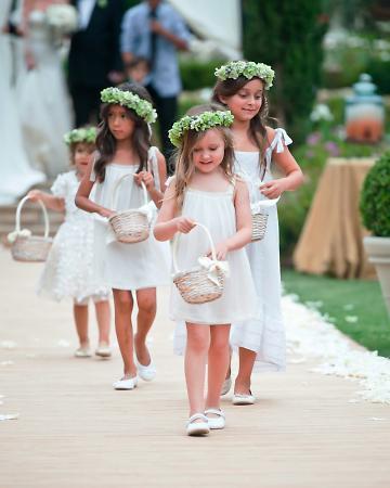 damas de honra e floristas