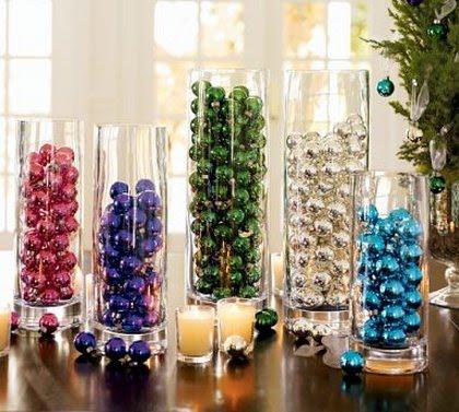 Enfeites e objetos para decoração de Natal