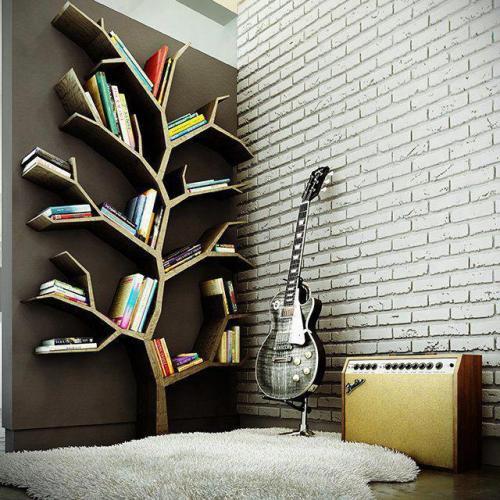 ideia criativa para guardar livros