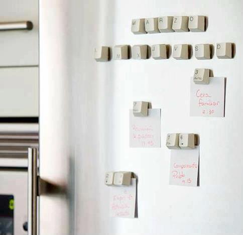 imas de geladeira com teclas de teclado