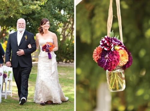 casamento laranja e roxo