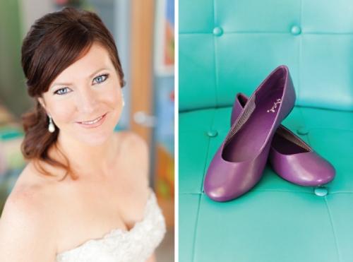 sapatilha roxa para noiva