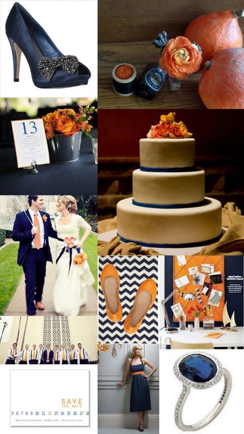 decoração-casamento-laranja-marinho