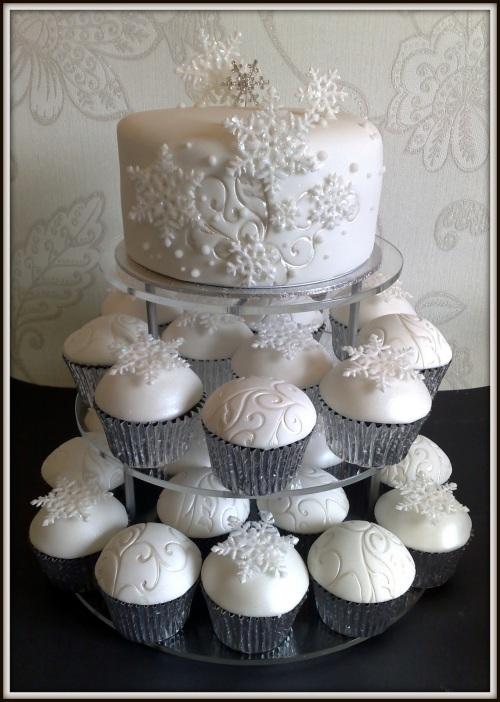 bolo de casamento inverno