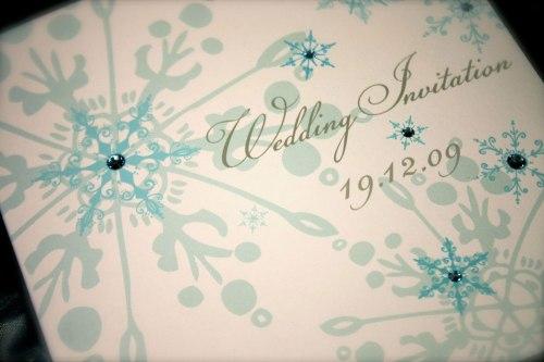 convite de casamento inverno