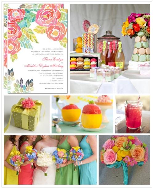 cores para casamento de primavera